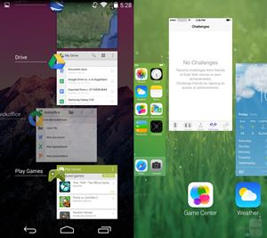 Android 4.4 KitKat vs iOS 7