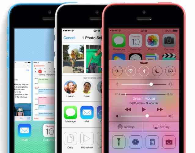 iPhone 5C:Control Center