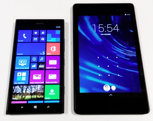 Lumia 1520 vs Nexus 7 2